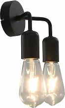 Lampe murale Noir E27
