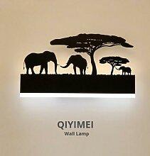 Lampe murale romantique en acrylique, abat-jour,