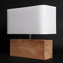 Lampe nature en bois brut