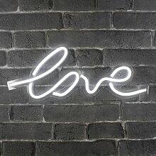 Lampe Néon Love - Blanc chaud