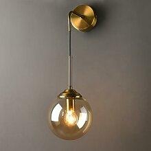 Lampe nordique et moderne, boule de verre, miroir