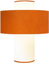 Lampe orange D 35 cm
