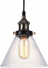 Lampe Pendante avec Petit Abat-Jour Cristal Edison