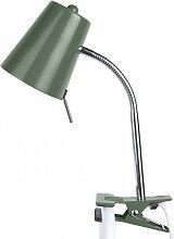 Lampe pince métal vert