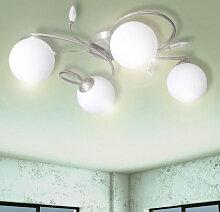Lampe plafond avec feuilles acryliques verres