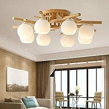 Lampe plafond Bois Massif E27 Couleur Bois