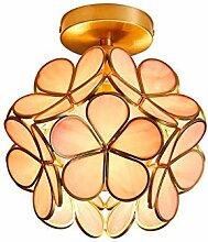 Lampe Plafond LED en cuivre, plafonnier créatif,