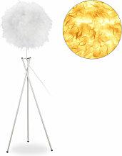 Lampe plumes, E27, une ampoule,lampe trépied,