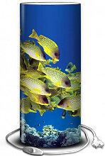 Lampe poissons et corail