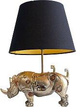 Lampe rhinocéros steampunk en polyrésine et