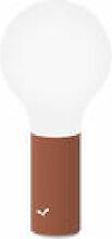 Lampe sans fil Aplô LED - Fermob rouge en métal