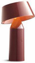 Lampe sans fil Bicoca - Marset rouge en matière