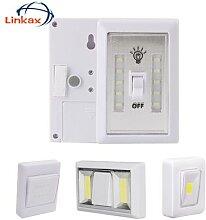 Lampe sans fil COB, interrupteur, veilleuse