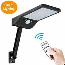 Lampe solaire 48 LED Applique support Réglable