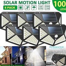 Lampe solaire à 100 LED avec détecteur de