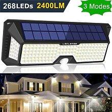 Lampe solaire à 122 LED avec détecteur de