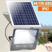 Lampe solaire à 44/170 led, imperméable,