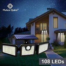 Lampe solaire d'extérieur à 108 LED avec