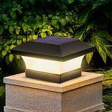 Lampe solaire d'extérieur carrée,