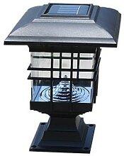 Lampe solaire d'extérieur, pilier lumineux,