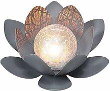 Lampe solaire de jardin en forme de fleur de 27,9