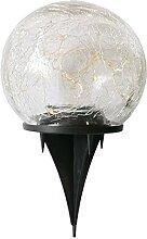 Lampe solaire de pelouse en verre craquelé -
