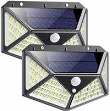 Lampe Solaire Extérieur 100 LED 2 Pack [Dernière