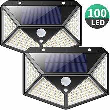 Lampe Solaire Extérieur 100 LED 2200 mAh