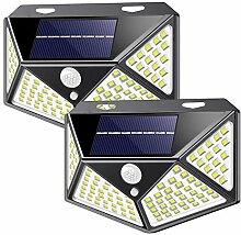 Lampe Solaire Extérieur, 2 Pack 100 LED Lumière