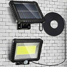 Lampe Solaire Extérieur, 2400mAh LED Détecteur