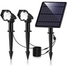 Lampe Solaire Exterieur3600mAh LED Spot