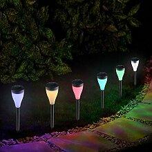 Lampe Solaire Exterieure Jardin au Sol 6Pack