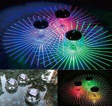 Lampe solaire flottante Disco aux couleurs