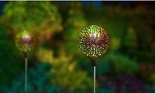 Lampe solaire globe de jardin : x2