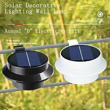 Lampe solaire imperméable à large faisceau,