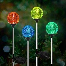 Lampe Solaire Jardin, kit de 4 Paquets de Lumière