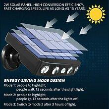 Lampe solaire rotative à 4led avec détecteur de