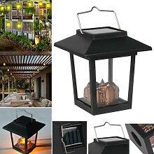 Lampe solaire suspendue au vent, lanterne Vintage,