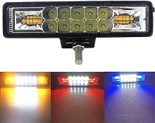 Lampe stroboscopique 48W 12V 24V, éclairage LED