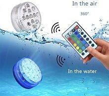 Lampe Submersible à 13 Led avec télécommande,