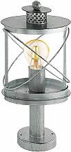 Lampe sur pied d'extérieur argent antique