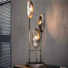 Lampe sur pied en métal vieilli CODY