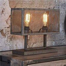 Lampe sur pied industrielle en métal gris BRADLEY