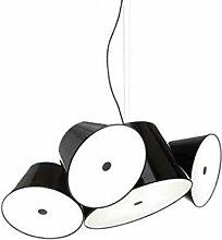 Lampe Suspendue 5 x E14 LED 5 W avec 3 Abat-Jour