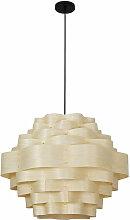 Lampe suspendue au design Boho Bois naturel