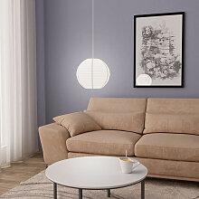 Lampe suspendue Blanc ?30 cm E27