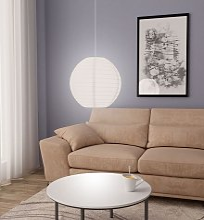 Lampe suspendue Blanc Ø45 cm E27