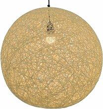 Lampe suspendue Crème Sphère 55 cm E27