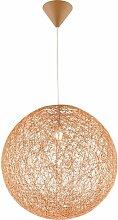 Lampe suspendue de luxe salon papier tresse boule