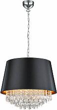Lampe suspendue design en cristal textile pendule